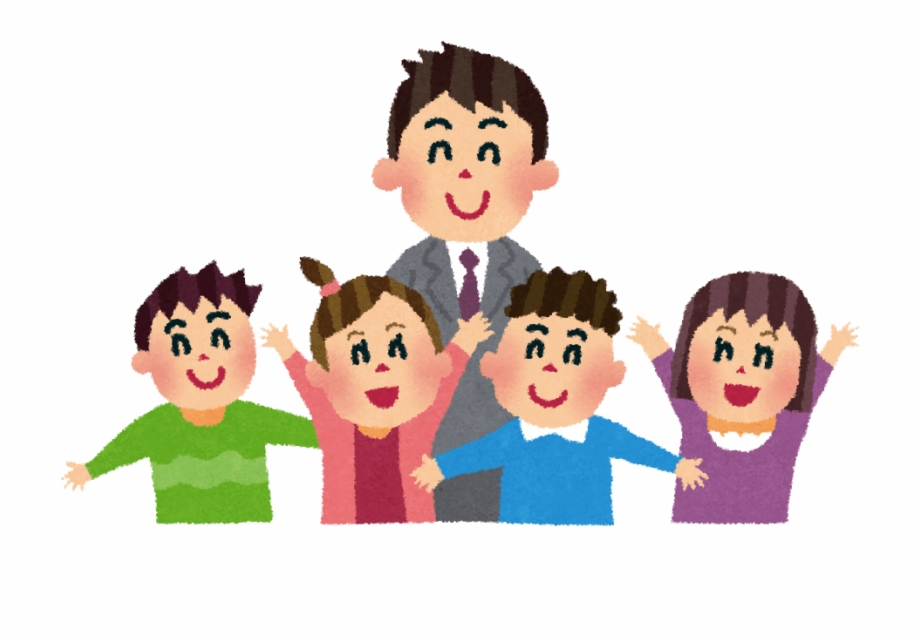 Teacher With Students Teacher And Student Cartoon Png.