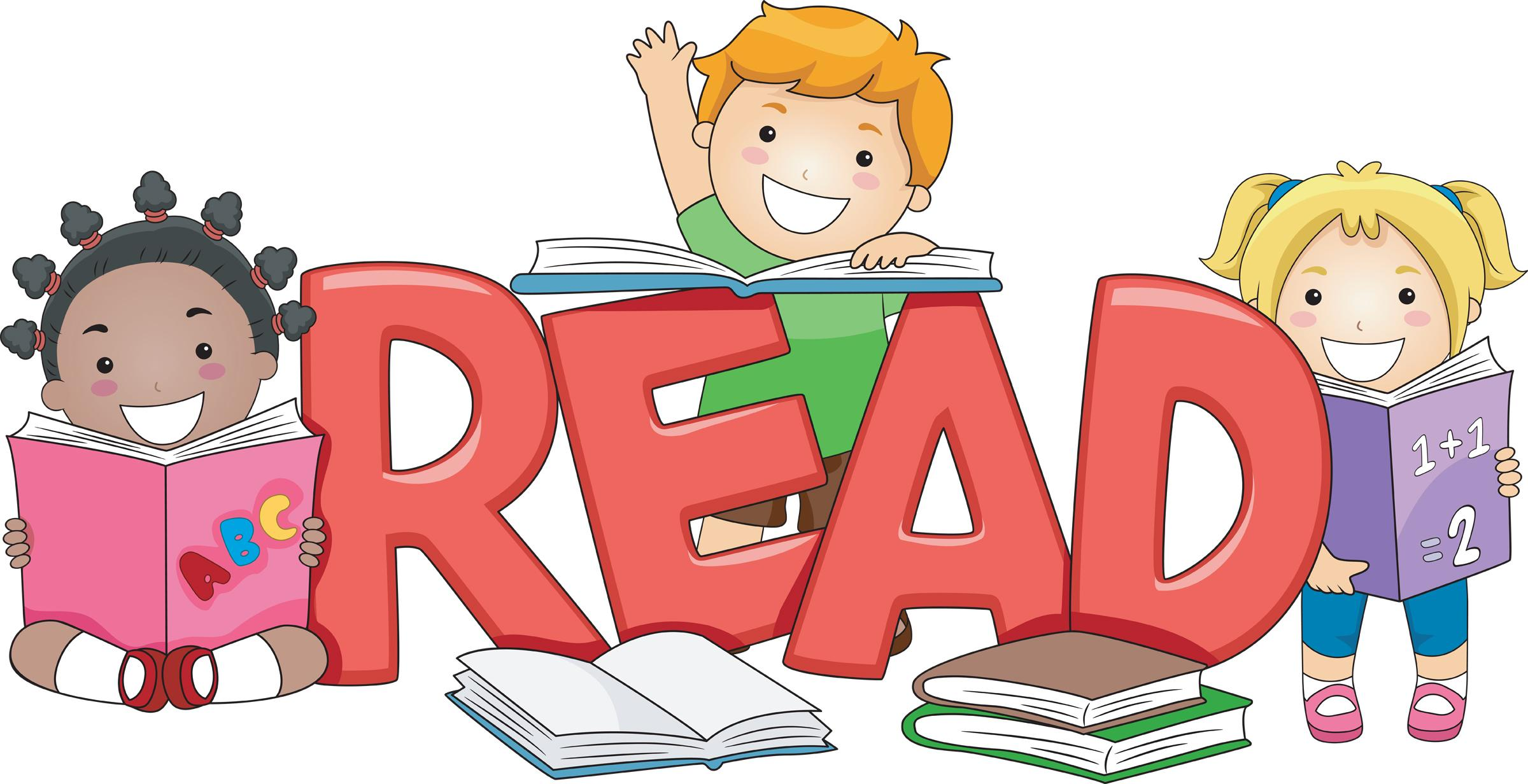 Clipart Of Students Reading.