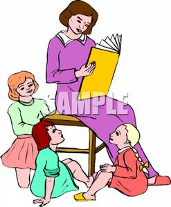 Students Reading Clip Art.