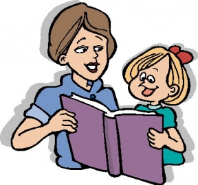 Teacher Reading To Students Free Clipart Image.