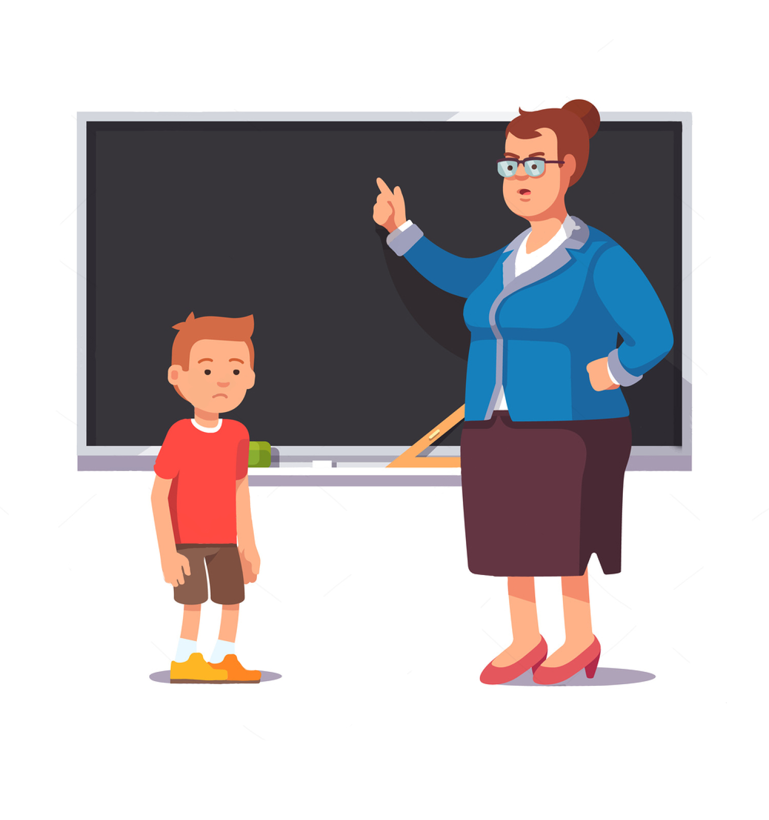 Teacher And Student Relationship Clipart.