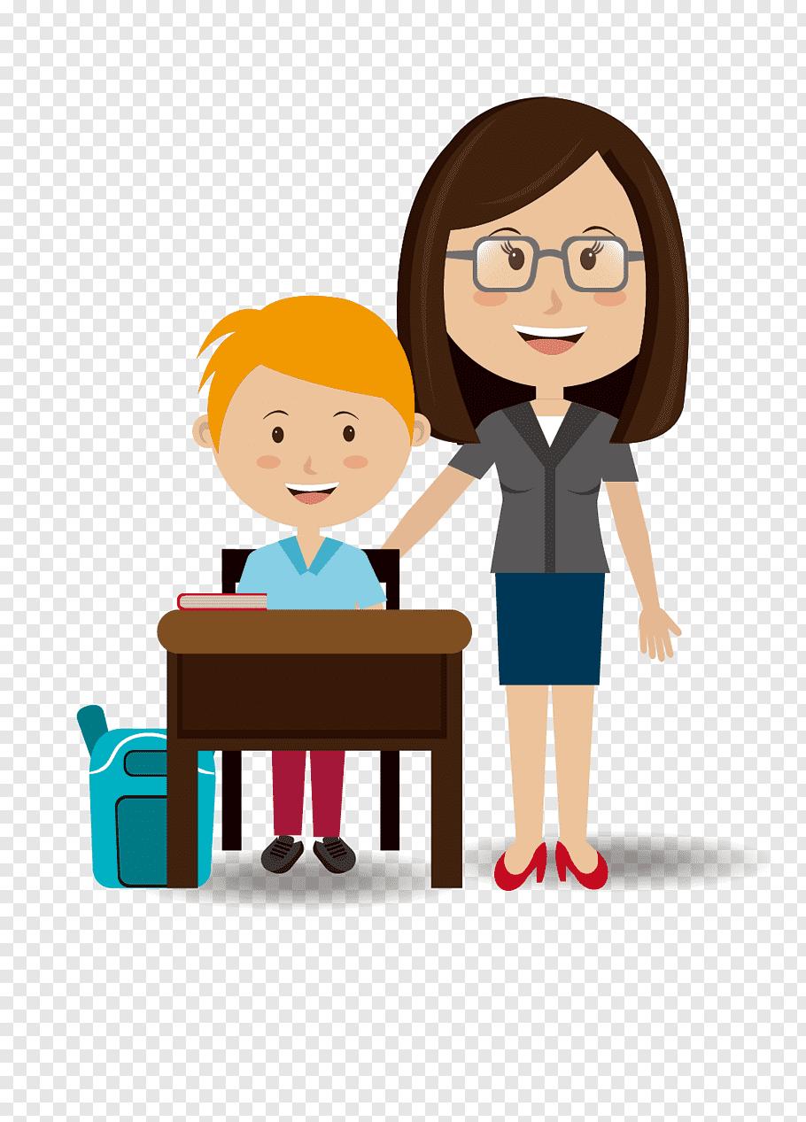 Female teacher boy student, Student teacher Student teacher.