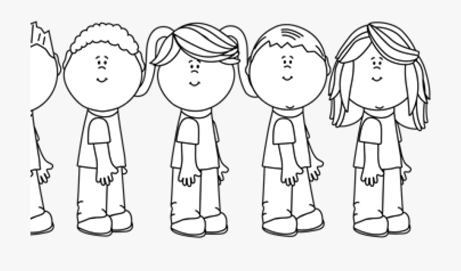 Teacher Clipart Black And White Black And White Students.
