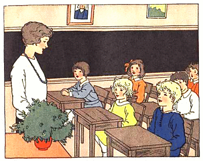 Teacher And Students In Classroom Clipart.