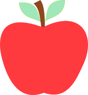 844 Teacher Apple free clipart.