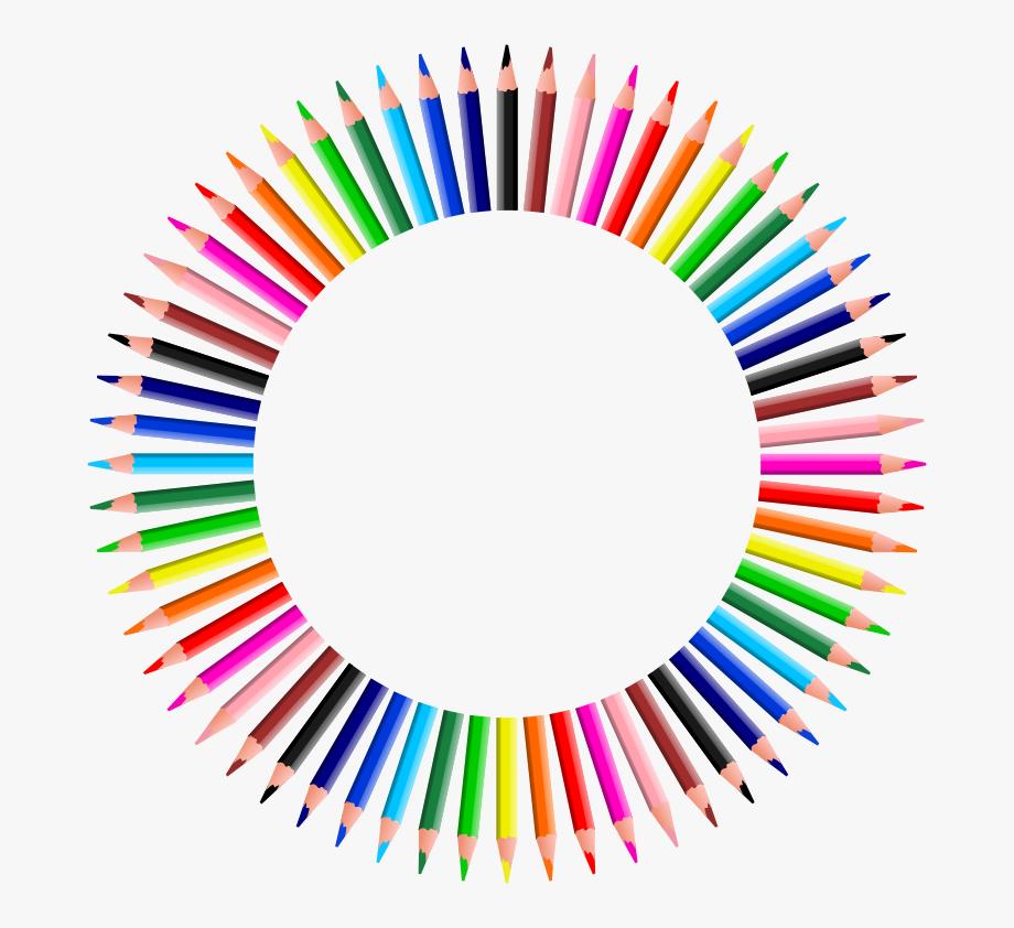 Clipart Colorful Pencils Frame 4 Happy Pencil Clip.