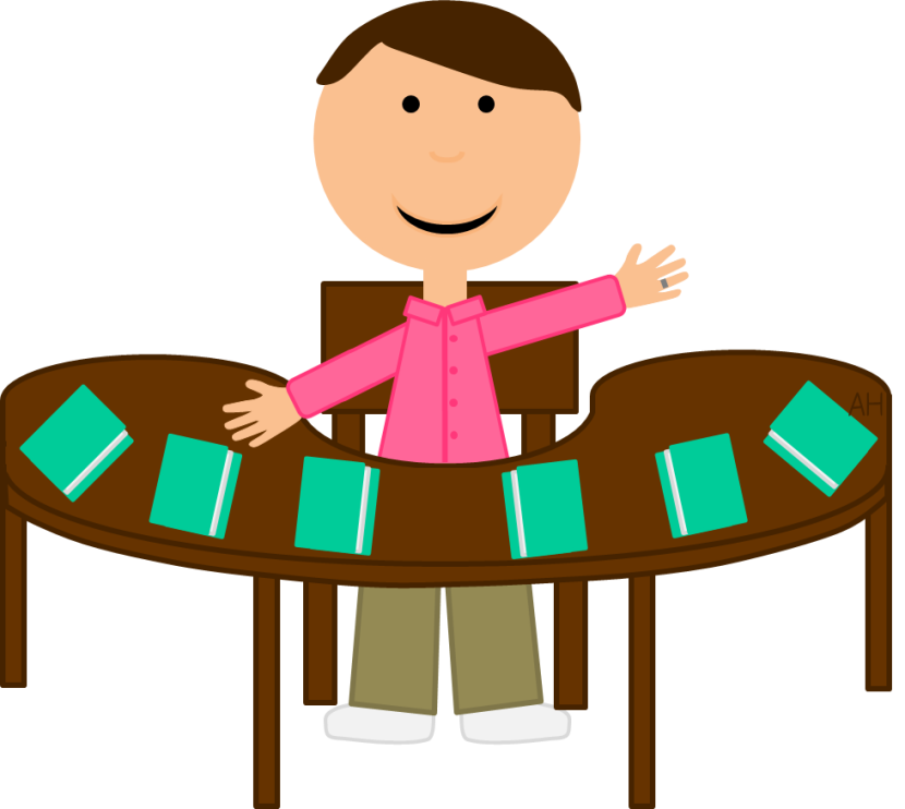 Desk clipart hand on, Desk hand on Transparent FREE for.
