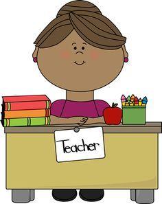 Teacher at desk clipart 2 » Clipart Portal.