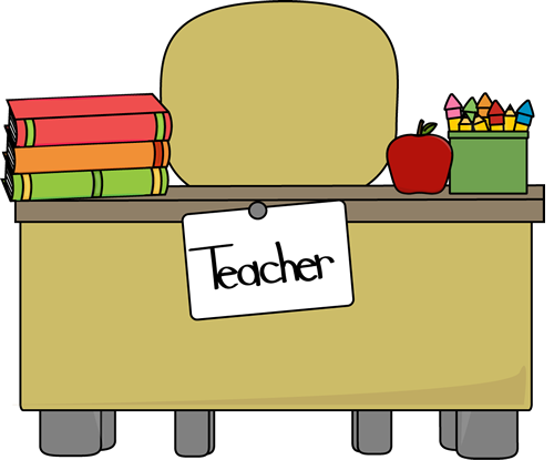 Teacher Desk Clipart & Look At Clip Art Images.