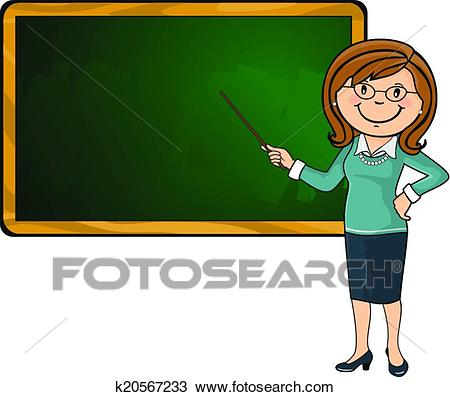 Blackboard with teacher clipart » Clipart Station.