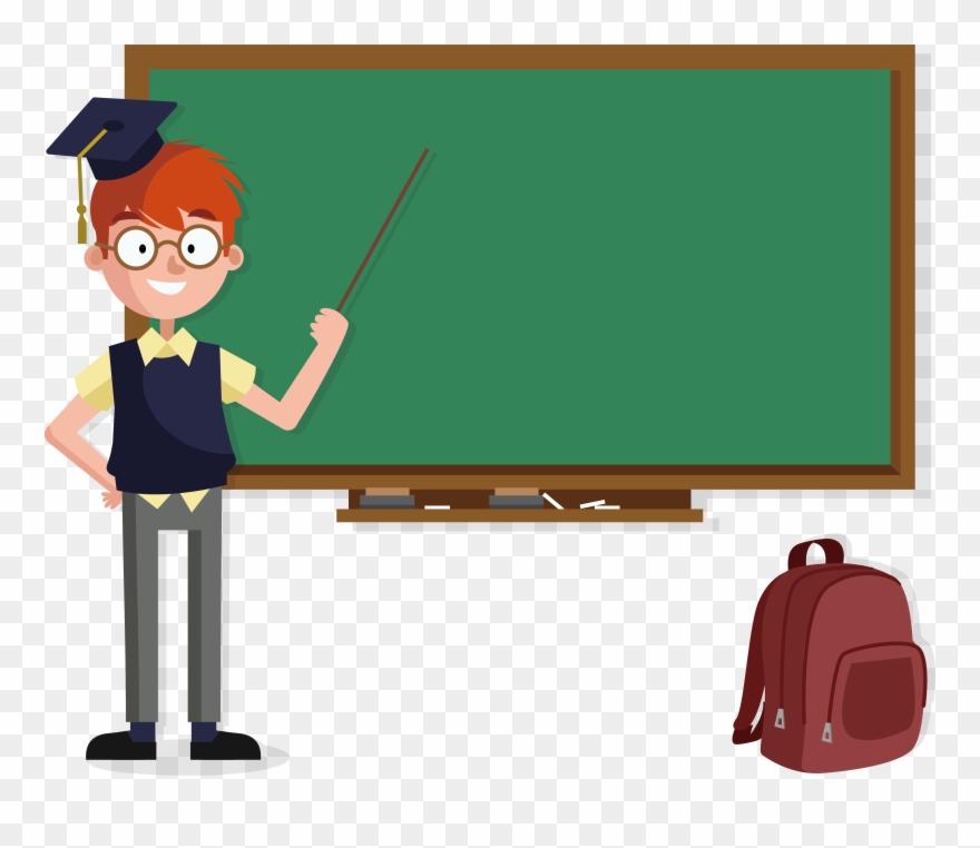 Transparent Teacher Blackboard.