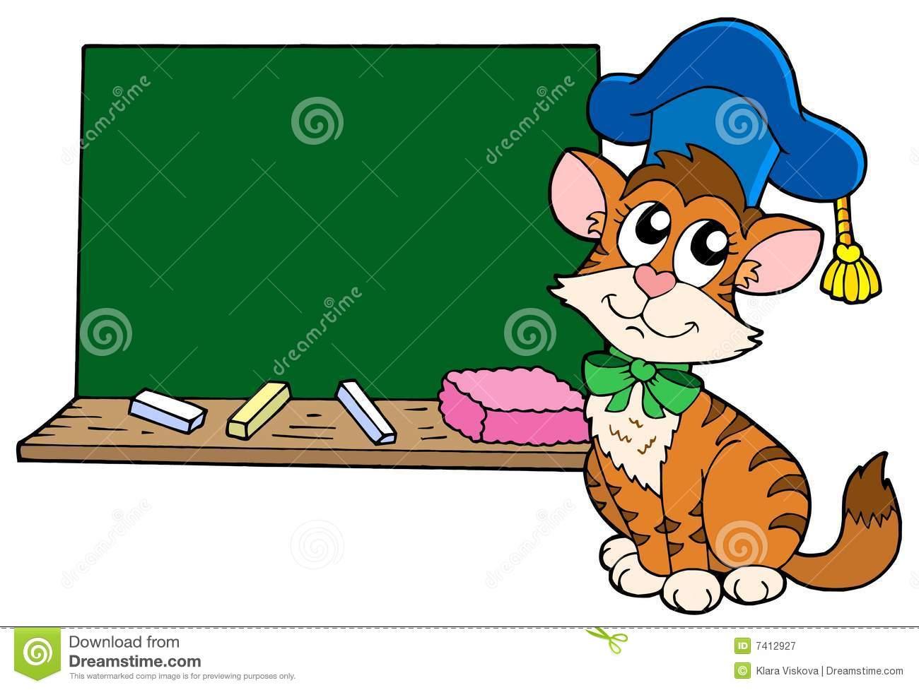teacher cat clipart #19