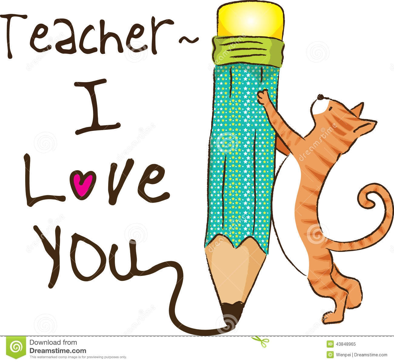 teacher cat clipart #9