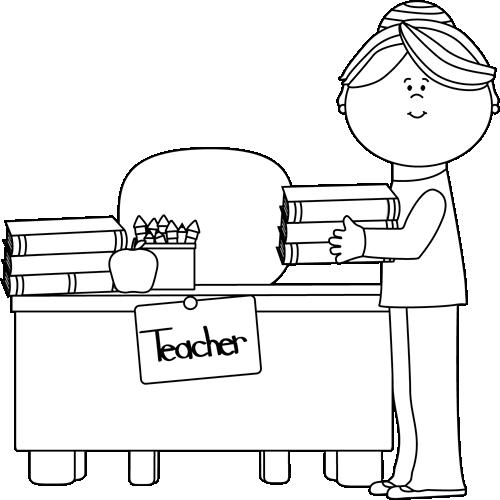 Teacher Clipart Black And White & Teacher Black And White Clip Art.