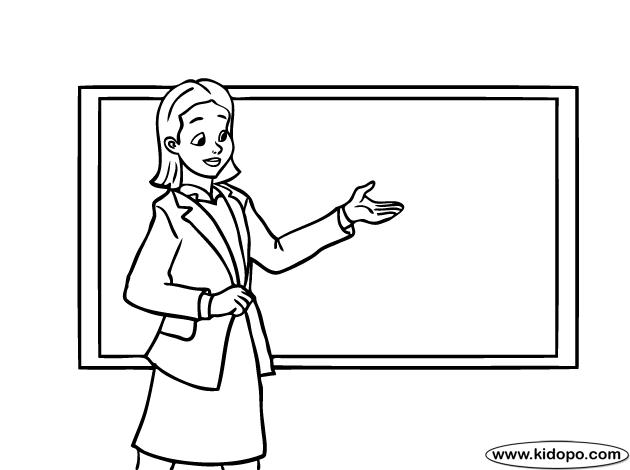 Teacher Coloring Page Educationcom, teacher coloring pictures.