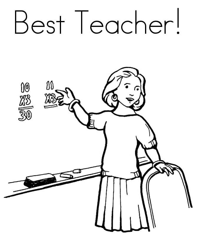 Teacher Drawing.