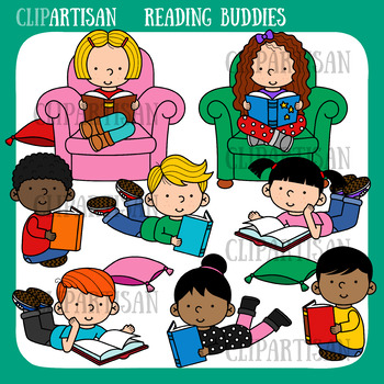 Kids Reading Clip Art by ClipArtisan.
