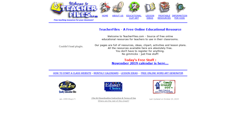 Access teacherfiles.com. Free Teacher Clipart.