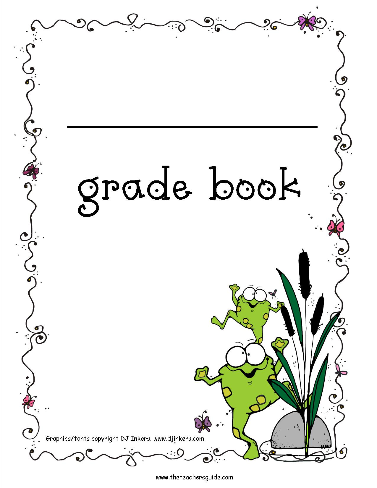 Persnickety image regarding teachers grade book printable