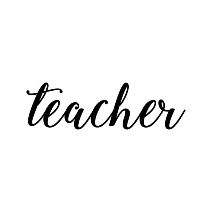Teacher Word Phrase Graphics SVG Dxf EPS Png Cdr Ai Pdf Vector Art Clipart  instant download Digital Cut Print File Cricut Silhouette Decal.