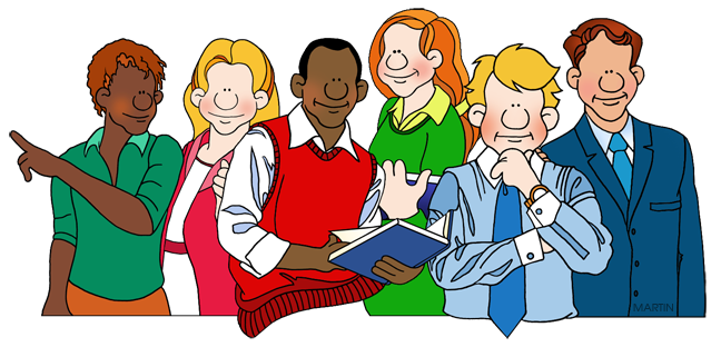 Teachers Group Clipart.