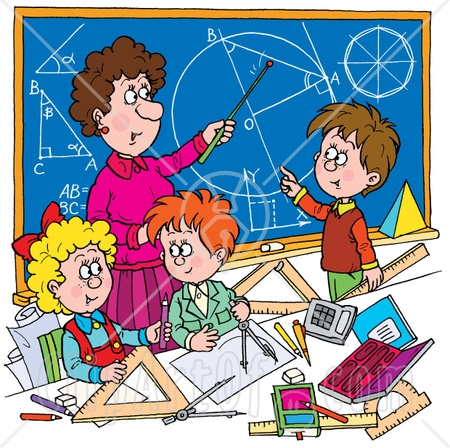 Teacher Helping Student With Math Clipart.
