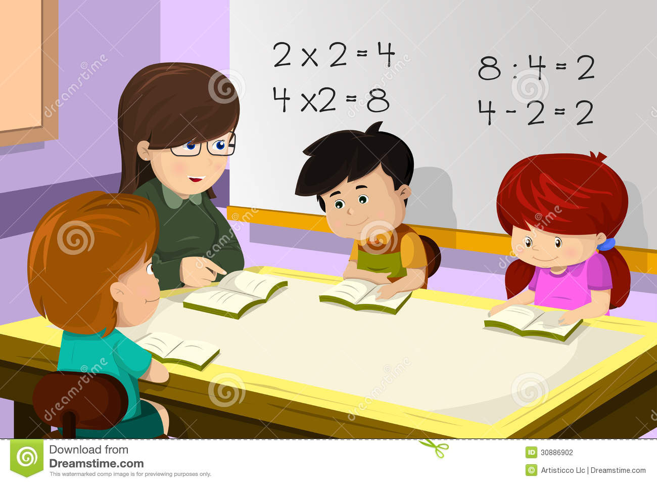 teacher helping student with math clipart - Clipground