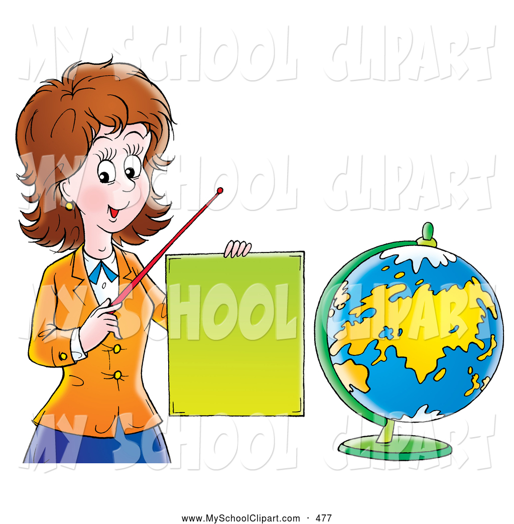 Social Studies Teacher Clipart.