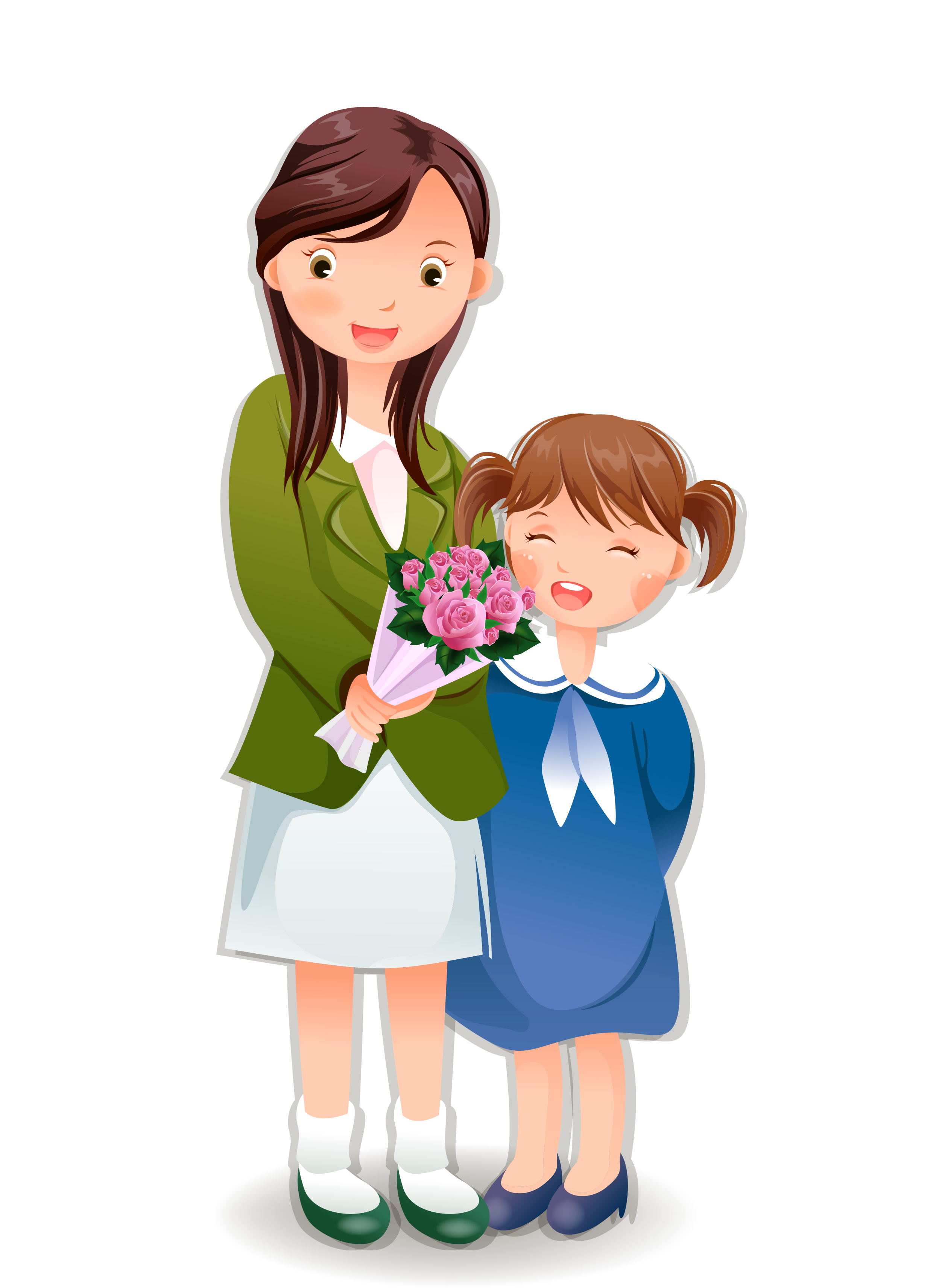 Mother clipart teacher hug, Mother teacher hug Transparent.