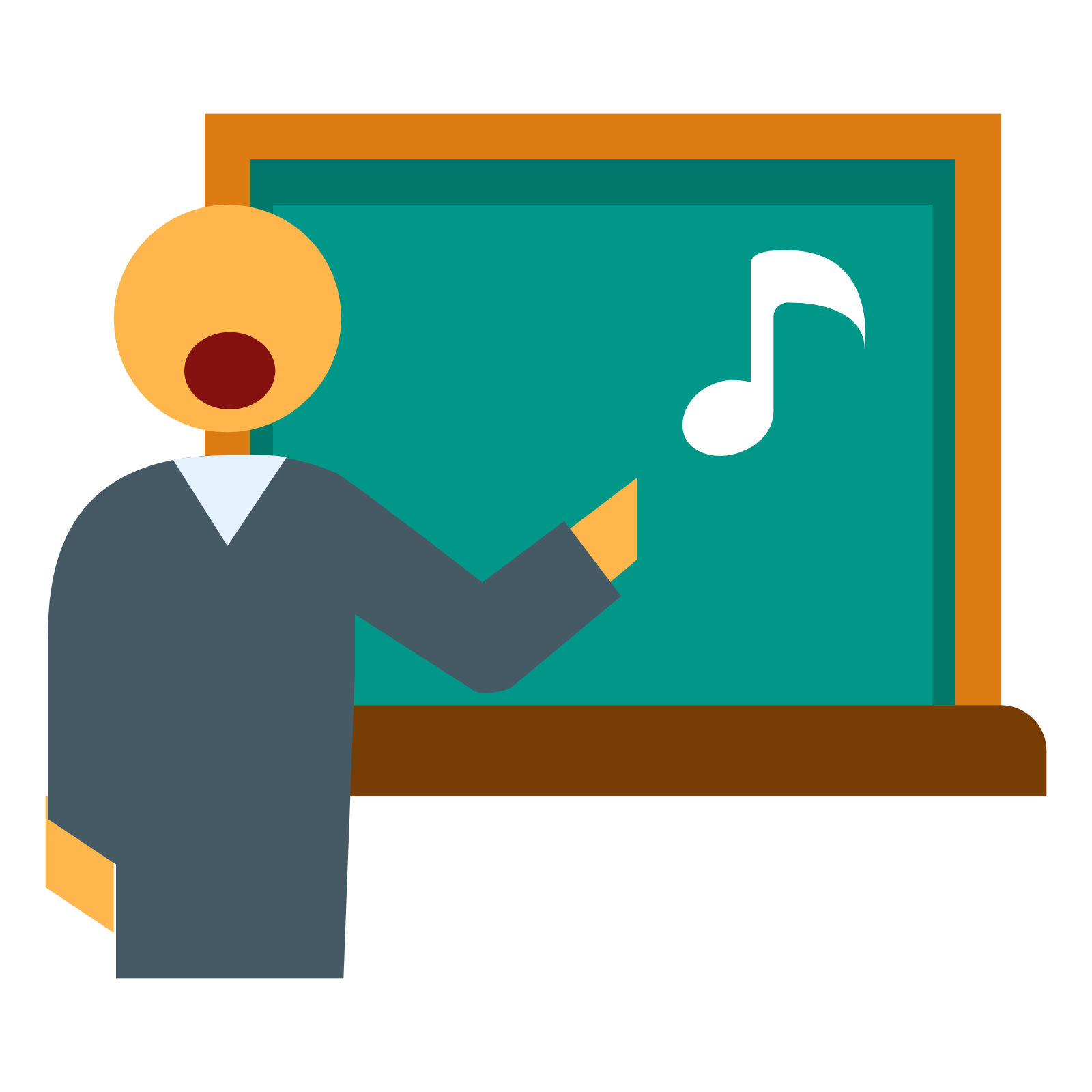 Teacher in Music Lesson Png Clipart #46712.