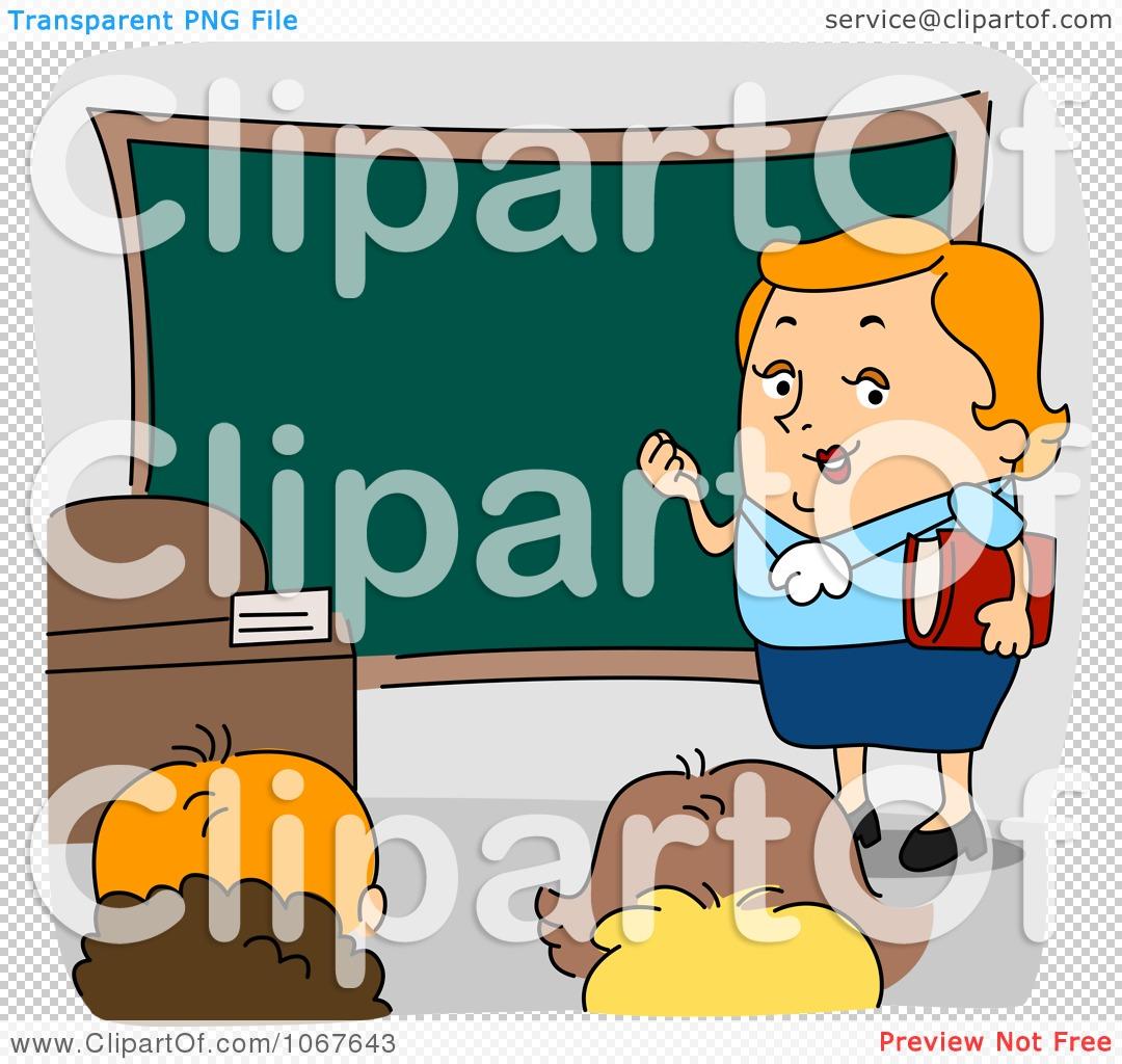 Clipart Teacher In Front Of A Class.