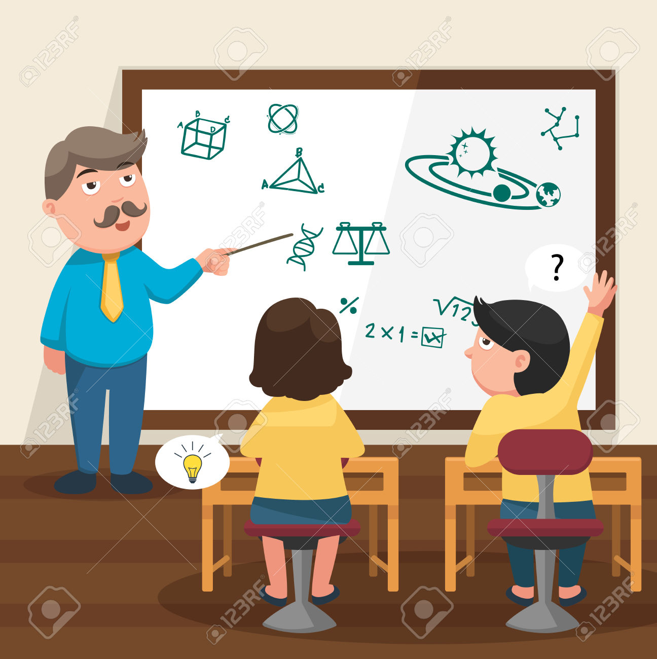 5,335 Teaching Kids Stock Vector Illustration And Royalty Free.