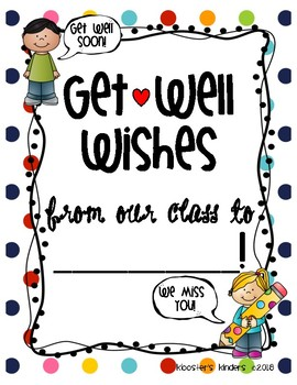 Get Well Soon Class Book Letter Writing Picture for sick student, teacher,  para.
