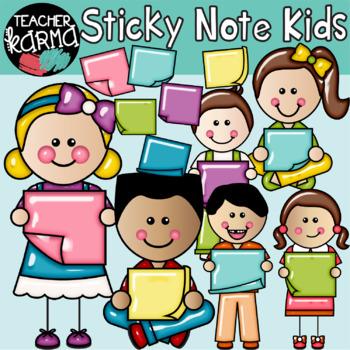 Sticky Note Kids Clipart.