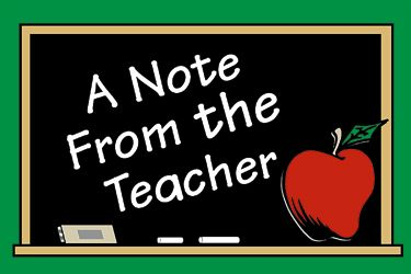 Note From Teacher Clipart.