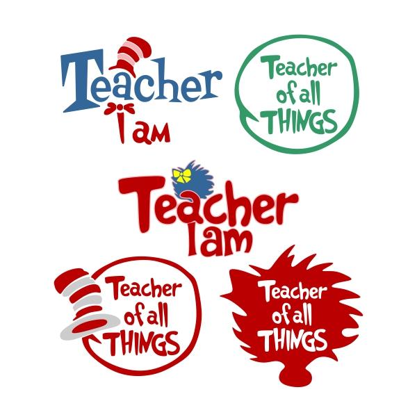 Teacher Cuttable Design.