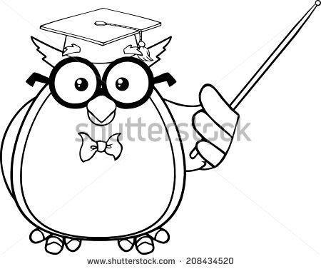 Teacher Owl Clipart Black And White