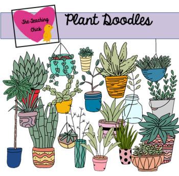 Plant Doodle Clip Art.