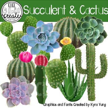 Succulent Cactus Clipart.