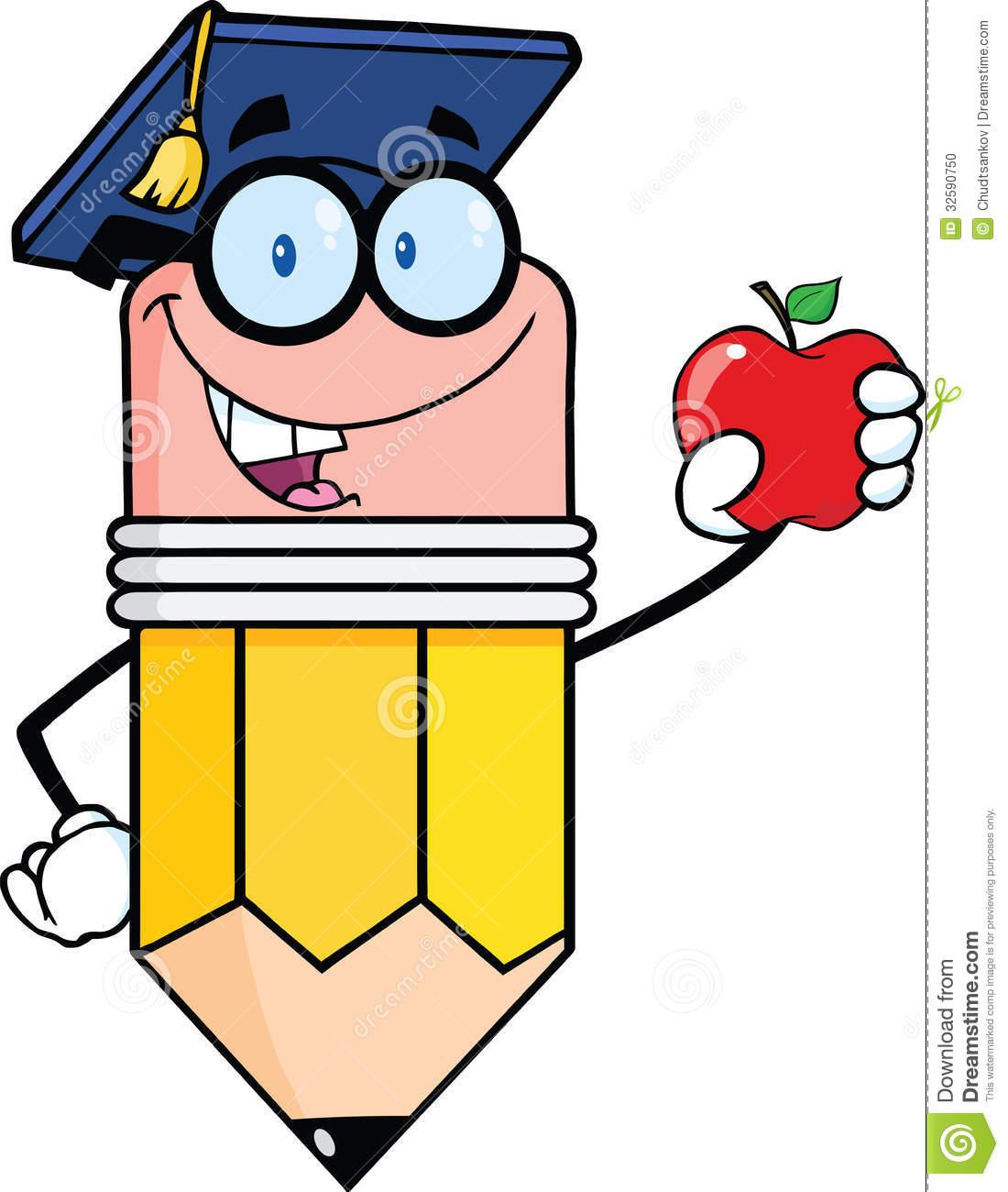 Teacher Apple And Pencil.