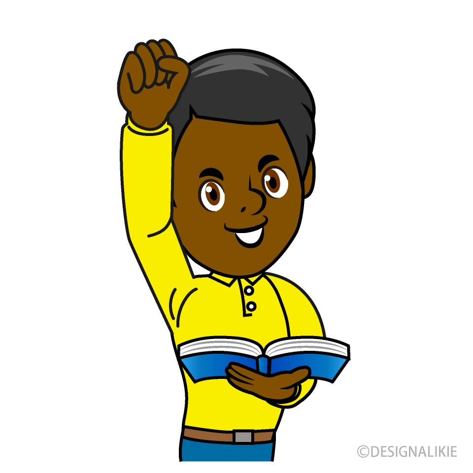 Free Energetic Teacher Clipart Image|Illustoon.