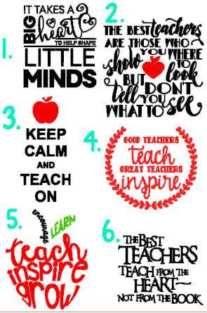 Teacher Quote Decals teacher gifts teacher by.