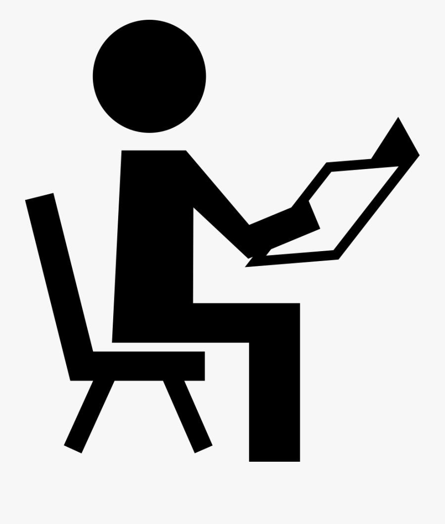 Transparent Teacher Reading Clipart Black And White.
