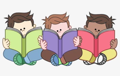 Free Children Reading Clip Art with No Background.