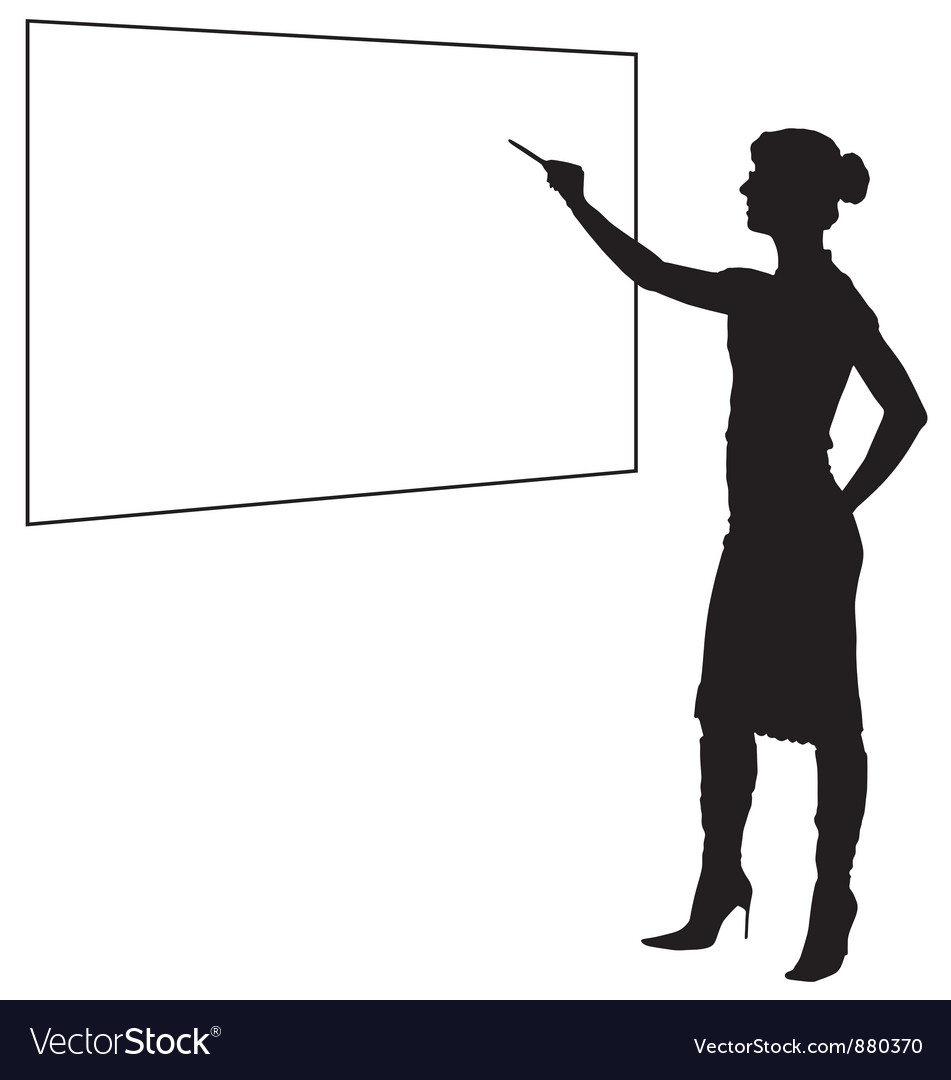 Female Teacher Silhouette.