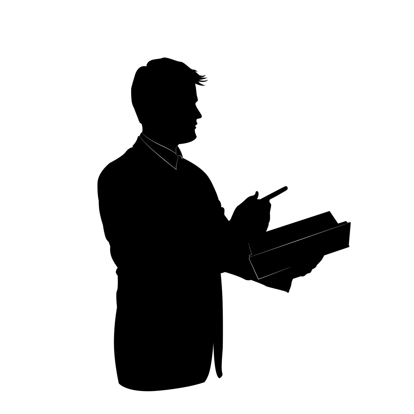 Teacher Silhouette Clipart.