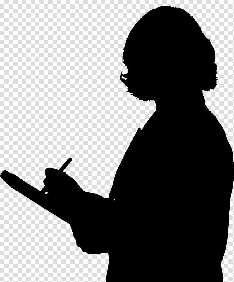 Silhouette Teacher, professional women transparent.