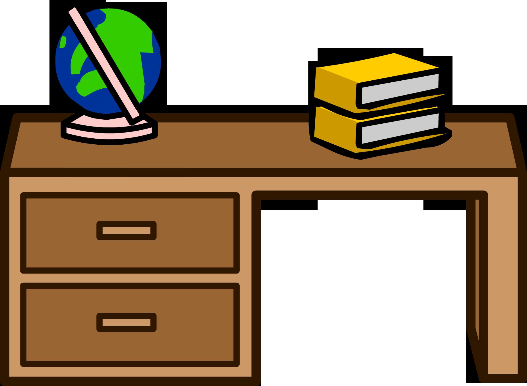 Teacher Table Clipart.