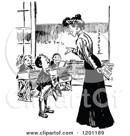 Teacher Talking To Student Clipart Black And White.