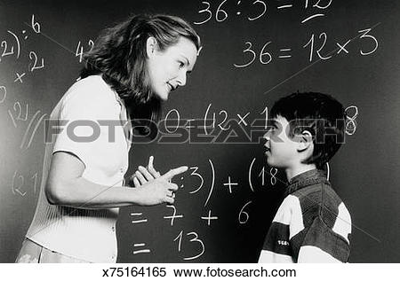 Stock Image of Teacher talking to student (6.